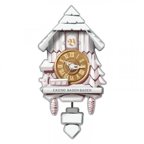 Produktbild: stylische Kukuksuhr im Casino-Design